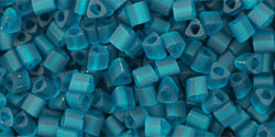 TOHO Triangle 11/0 : Transparent Frosted Teal