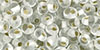 TOHO Magatama 3mm : Silver-Lined Frosted Crystal