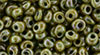 TOHO Magatama 3mm : HYBRID Opaque Luster - Transparent Green