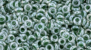 TOHO Demi Round 8/0 3mm : Inside-Color Crystal/Emerald-Lined
