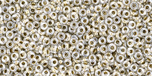 TOHO Demi Round 11/0 2.2mm : Gold-Lined Crystal
