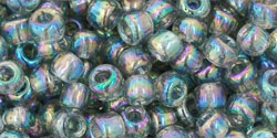 "TOHO Round 6/0 Tube 2.5"" : Transparent-Rainbow Black Diamond"
