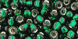 "TOHO Round 6/0 Tube 5.5"" : Silver-Lined Green Emerald"