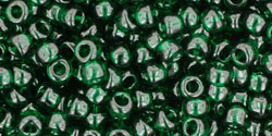 "TOHO Round 8/0 Tube 5.5"" : Transparent Green Emerald"