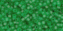 "TOHO Treasure #1 Tube 2.5"" : Transparent Frosted Grass Green"