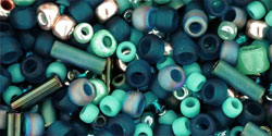 "Multi-Shape/Color Mix Tube 5.5"" : Tatsu- Teal Mix"