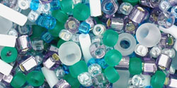 "TOHO Multi-Shape/Color Mix Tube 5.5"" : Fuji- White/Green/Blue/Purple Mix"