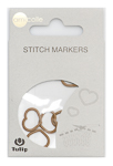Tulip - Stitch Markers (7 pcs) : Heart - Brown Large