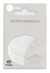 Tulip - Stitch Markers (7 pcs) : Heart - White Small