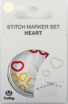 Tulip - Stitch Marker Set (15 pcs) : Heart
