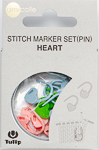 Tulip - Stitch Marker Set (15 pcs) : Heart (Pin)