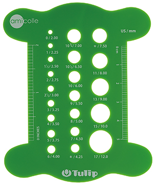Tulip - Knitting Needle Gauge : Green