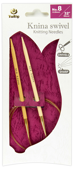 "Tulip - Knina Swivel Knitting Needles 32""-80cm No.8 5.00mm"