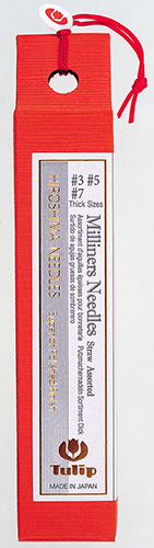Tulip - Milliners Needles Straw (6 pcs) : Assorted Thick Sizes