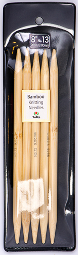 "Tulip - 8"" (20cm) Bamboo Knitting Needles (5 pcs) : Size 13 (9.00mm)"