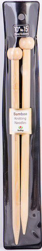 "Tulip - 10"" (25cm) Bamboo Knitting Needles (5 pcs) : Size 15 (10.00mm)"