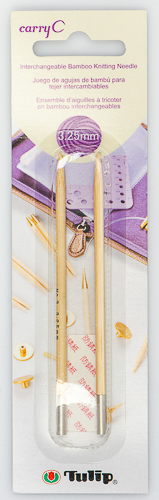Tulip - CarryC Interchangeable Bamboo Knitting Needles (2 pcs) : Size 3 (3.25mm)