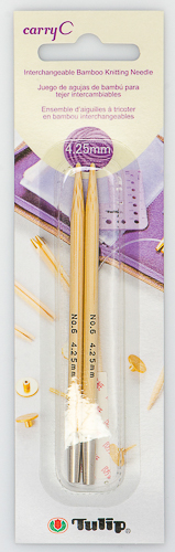 Tulip - CarryC Interchangeable Bamboo Knitting Needles (2 pcs) : Size 6 (4.25mm)