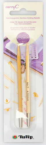 Tulip - CarryC Interchangeable Bamboo Knitting Needles (2 pcs) : Size 7 (4.50mm)