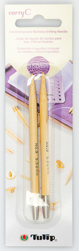 Tulip - CarryC Interchangeable Bamboo Knitting Needles (2 pcs) : Size 9 (5.50mm)