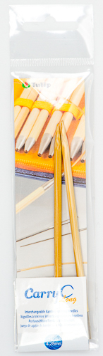 Tulip - CarryC Long Interchangeable Bamboo Knitting Needles (2 pcs) : Size 6 (4.25mm)