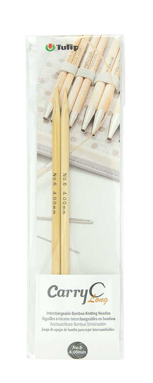 Tulip - CarryC Long Interchangeable Bamboo Knitting Needles (2 pcs) : Size 6 (4.00mm)