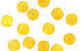 Loose Round 6mm : HurriCane Glass - Yellow Hibiscus