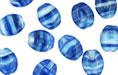 Loose Flattened Ovals 9/7mm : HurriCane Glass Ultramarine