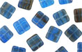 Loose Flat Squares 9mm : HurriCane Glass - Majorelle