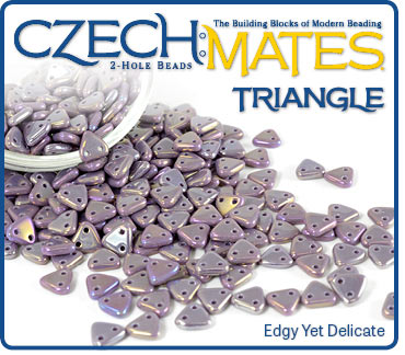 CzechMates Triangle Luster Iris Light Amethyst border=