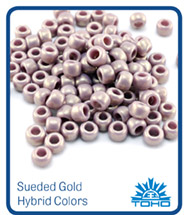 Sueded Gold Hybrid TOHO Seed Beads
