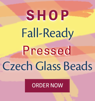 Shop pressed Czech glass beads in fall colors